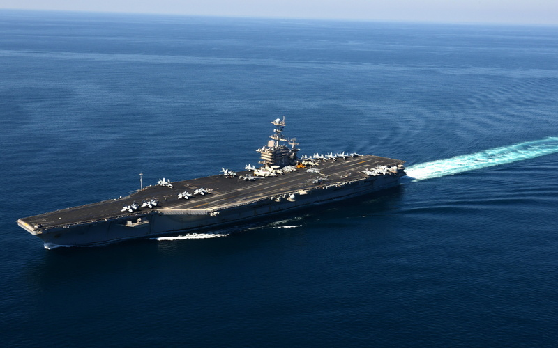 оружие, Aircraft carrier, корабль, uss john c. stennis