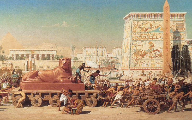 картина, edward poynter, israel in egypt, 1867, painting, Живопись