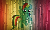 пони, rainbow dash, фон, доски, My little pony