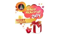 2014, christmas tree, gifts, stars, 2014, happy new year, christmas