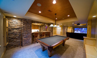desigen, bar, Interior, стиль, game, игровая, дизайн, billiard, room, table