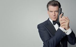 Пирс броснан, агент 007, пистолет, джеймс бонд, pierce brosnan