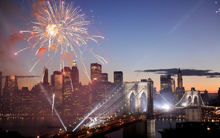 фейерверк, new york, usa, салют, Fireworks, америка, brooklyn bridge