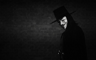 маска, улыбка, V - значит вендетта, v for vendetta, anonymous