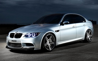 2012, angel eyes, ind, sedan, bmw m3, wallpapers, ghost, automobile, e90, tuning, Car, silver