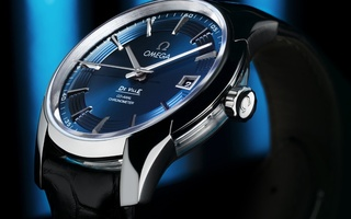 Часы, watch, blue, de ville hour vision, omega