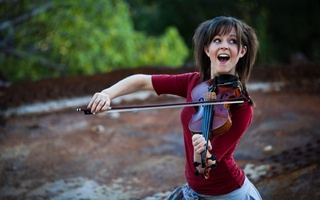 девушка, скрипка, Lindsey stirling, violin