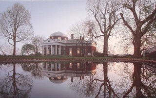 Jefferson monticello, usa, national historic landmark, rod chase, monticello, painting, virginia