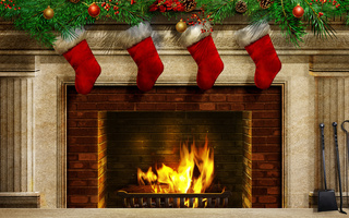colors, fire, christmas stockings, colorful, christmas balls, beauty, christmas, Beautiful, cool