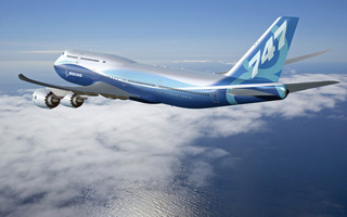 in flight, , new aircraft, Boeing 747-8 intercontinental
