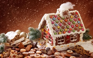 biscuit, Winte house, cookie, december festive, candyland, gingerbread, christmas bake