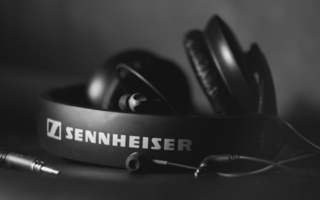 наушники, Sennheiser, hi-tech, hd 205, черно белое