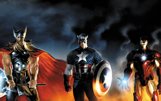 captain america, iron man, Thor, heroes, marvel
