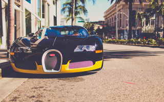 Bugatti, veyron, los angeles, california, город