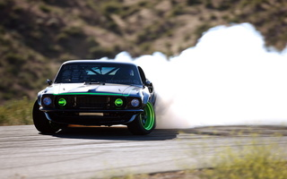 sport, дрифт, занос, drift, дым, Ford mustang, форд