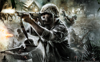 смерть, Автомат, солдат, cod world at war