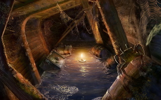 pirates, ship, Locations for games, candle, light, masterbo, spider, bogdan maistrenko