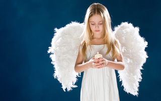 childhood, Girl, candle, cute, , wings, ангел, angel, sadness, children, child, девушка