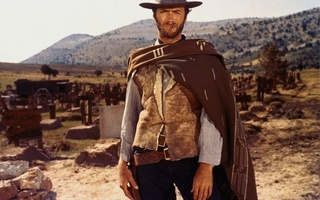 wild west, Clint eastwood, coat, gun, grave, actor, cemetery, good, клинт иствуд