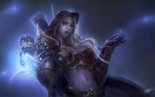 эльф, World of warcraft, магия, доспехи, wow, lady sylvanas windrunner