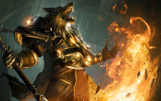 Worgen, огонь, world of warcraft, fire, пламя