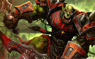 World of warcraft, trading card game, orc, орк, wow, воин, мечи, крик