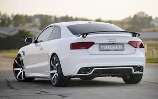s-line, тюнинг, ауди, audi, a5, купе, вид сзади, coupe, Rieger, tuning