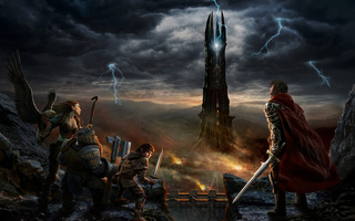 крепость, The lord of the rings, властелин колец, rise of isengard