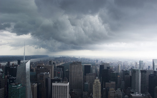 usa, new york, Storm clouds, нью-йорк, nyc, manhattan, сша