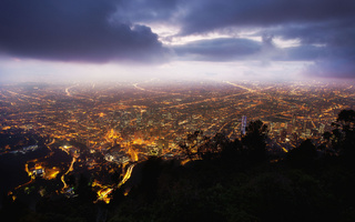 ночь, bogota, колумбия, богота, night, Colombia, monserrate
