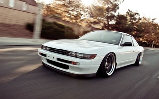 tuning, s13, white, car, silvia, Nissan, nation, speed, jdm, style, stance, автомобиль