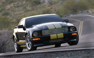 Ford, mustang, дорога, shelby gt-h