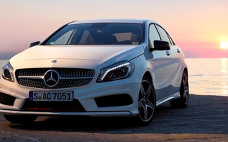 wallpapers, package, white, автомобиль, amg, 2012, Car, sport, new, mercedes, a200