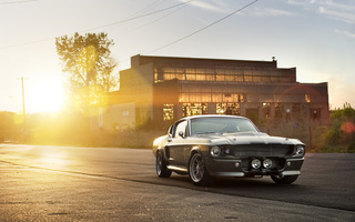 shelby, форд, шелби, front, silvery, Ford, gt 500, eleanor, muscle car