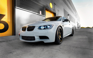 e92, бмв, Bmw, дневной свет, wheels, volk racing, m3, белый, диски, white