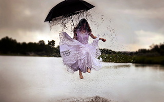 dream, Rainy day, surrealism, fine art photography, rain