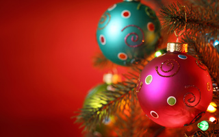 christmas tree, Merry christmas, light balls, christmas decoration, ornament, new year