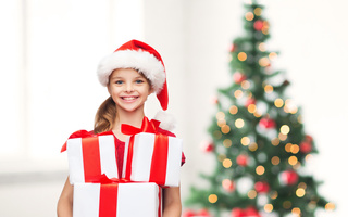 Merry christmas, little girl, happy, new year, smile, christmas tree, child, children, gifts