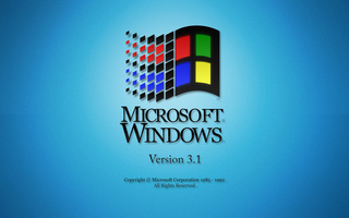 operating system, retro, blue, Microsoft windows