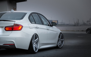tuning, white, car, vossen, Bmw