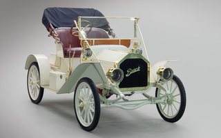 кабриолет, buick, 1908, ретро, model 10, touring runabout, белый