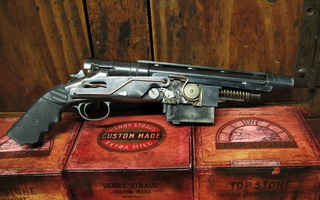 Steampunk, grand approximiser 3 shot pistole, gun