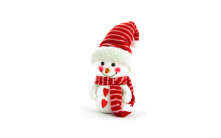 christmas, hearts, snowman, new year, background, scarf, праздники, Holidays