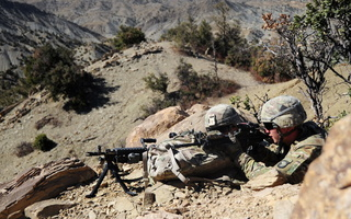 providing security, afghanistan, M240 machinegun
