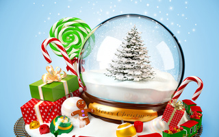 gifts, snow, toy, christmas tree, decoration, sweets, merry christmas, ornaments, train, , New year