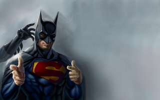 superman, superheroes, юмор, Batman, artwork