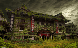 japan, Post apocalyptic, tokyo, ruin