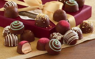 ribbon, chocolate, конфеты, candy, Box, шоколад, gift