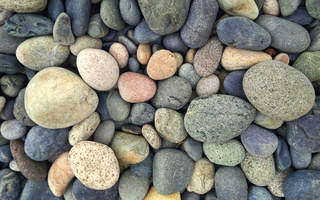 grey, Stones, blue, green, yellow, colorful, round