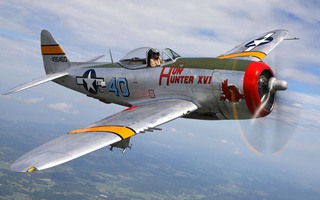 club, historical, Military, p-47, thunderbolt, republic, истребитель, самолет